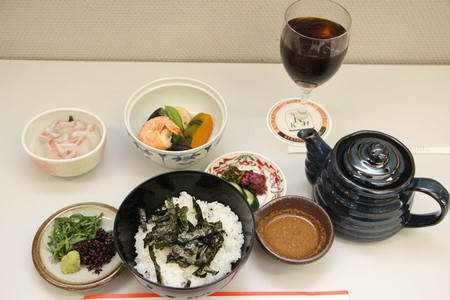 中井女流六段の昼食